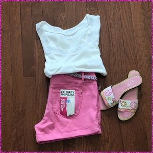 "Celebrity Pink Shorts - 🆕🌟NWT ""CELEBRITY PINK""  CUFFED JEAN SHORTS"